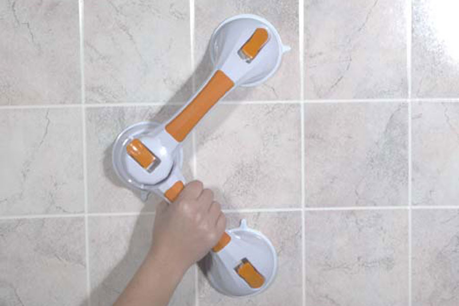 Suction-cup grab bar